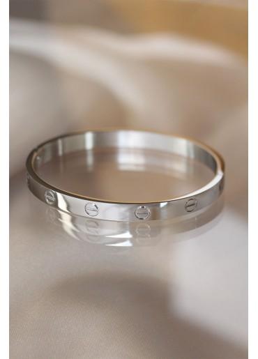 Erb Silver Renk Cartier Çelik Bilezik
