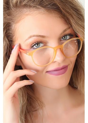 Sarı Renk Oval Turuncu Renk Bayan Gözlük